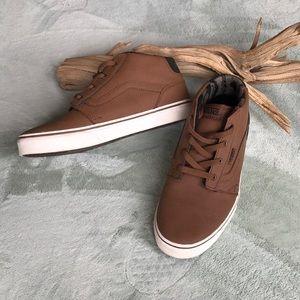 🏁Vans Youth Hightop Sneakers Brown